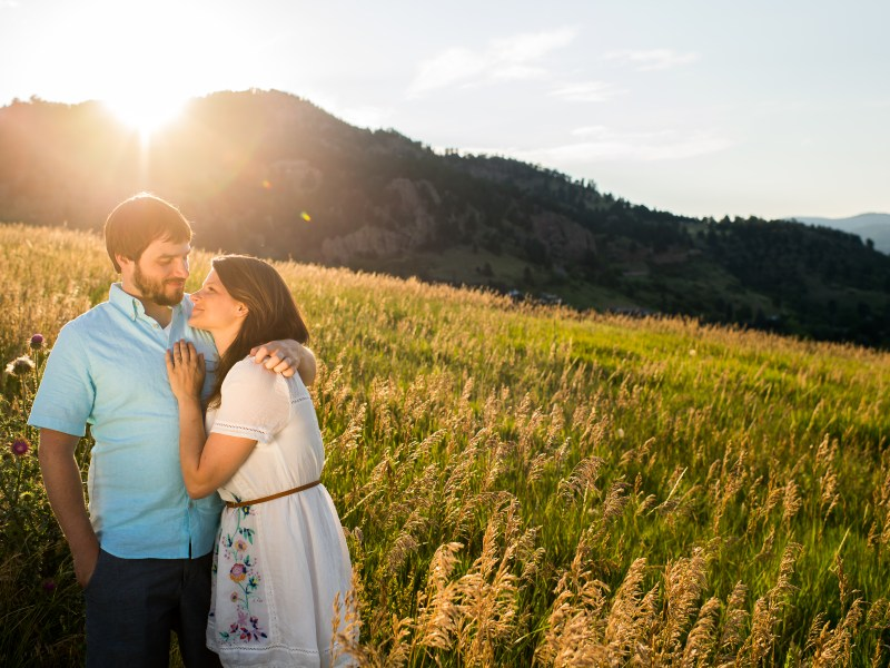 Engagement session at Boulder's Chautauqua Park