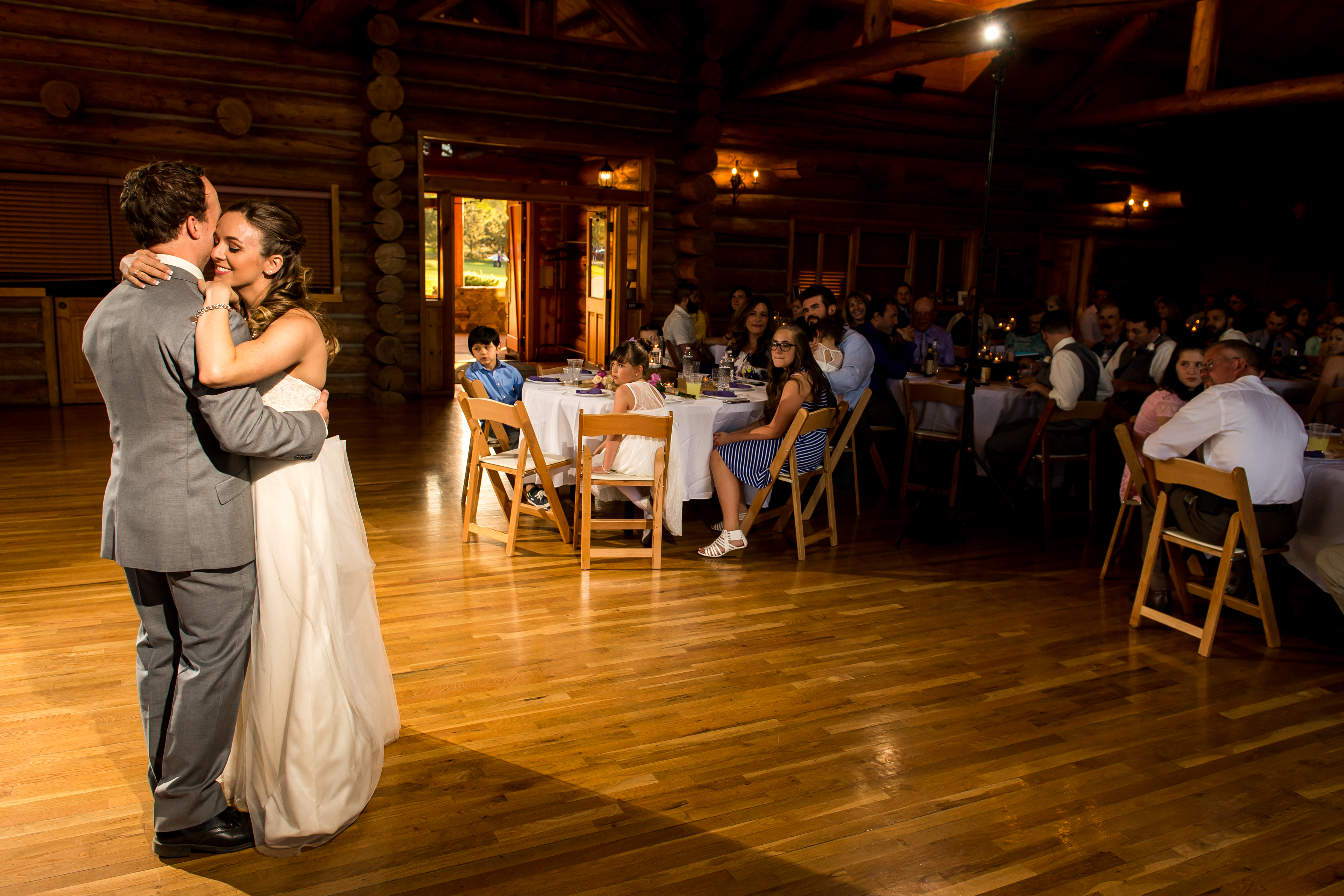 Evergreen Lake House wedding pictures of bride and groom dancing