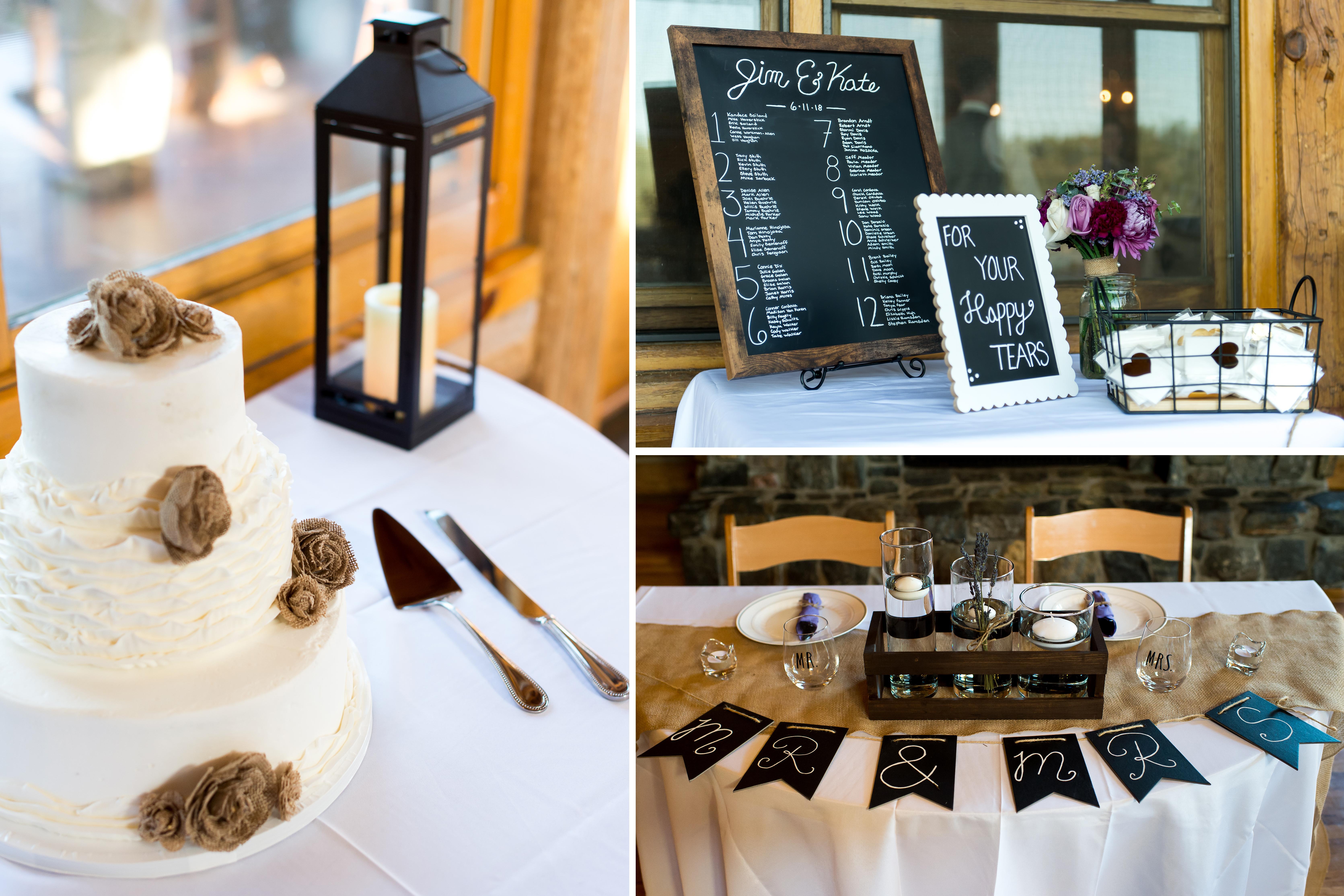 Evergreen Lake House wedding pictures of details