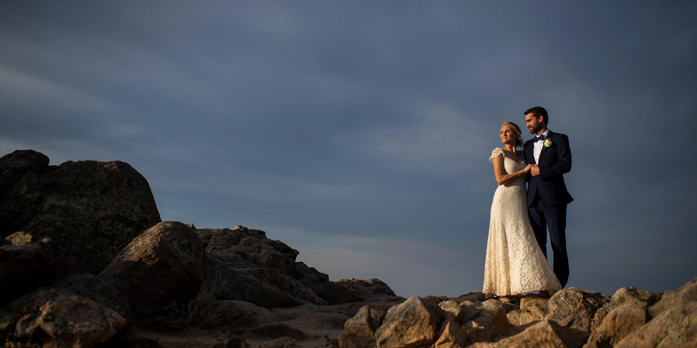 Flagstaff Mountain wedding photos in Boulder, Colorado.
