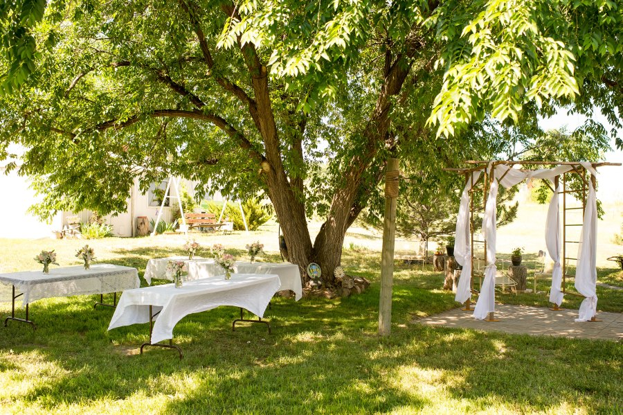 Family home wedding in Elizabeth, Colorado
