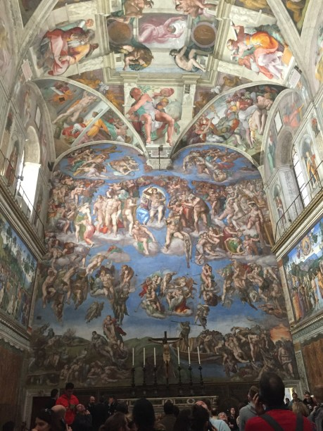 I snuck a photo at the Sistine Chapel