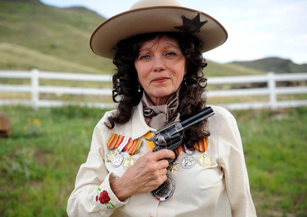 Annie Oakley reenactor