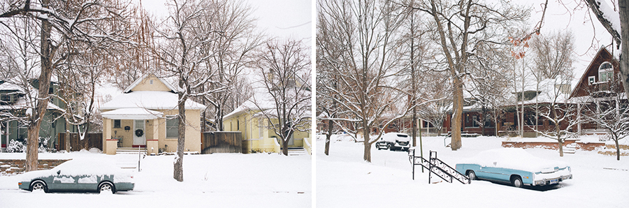 A snowstorm in Denver in January 2016