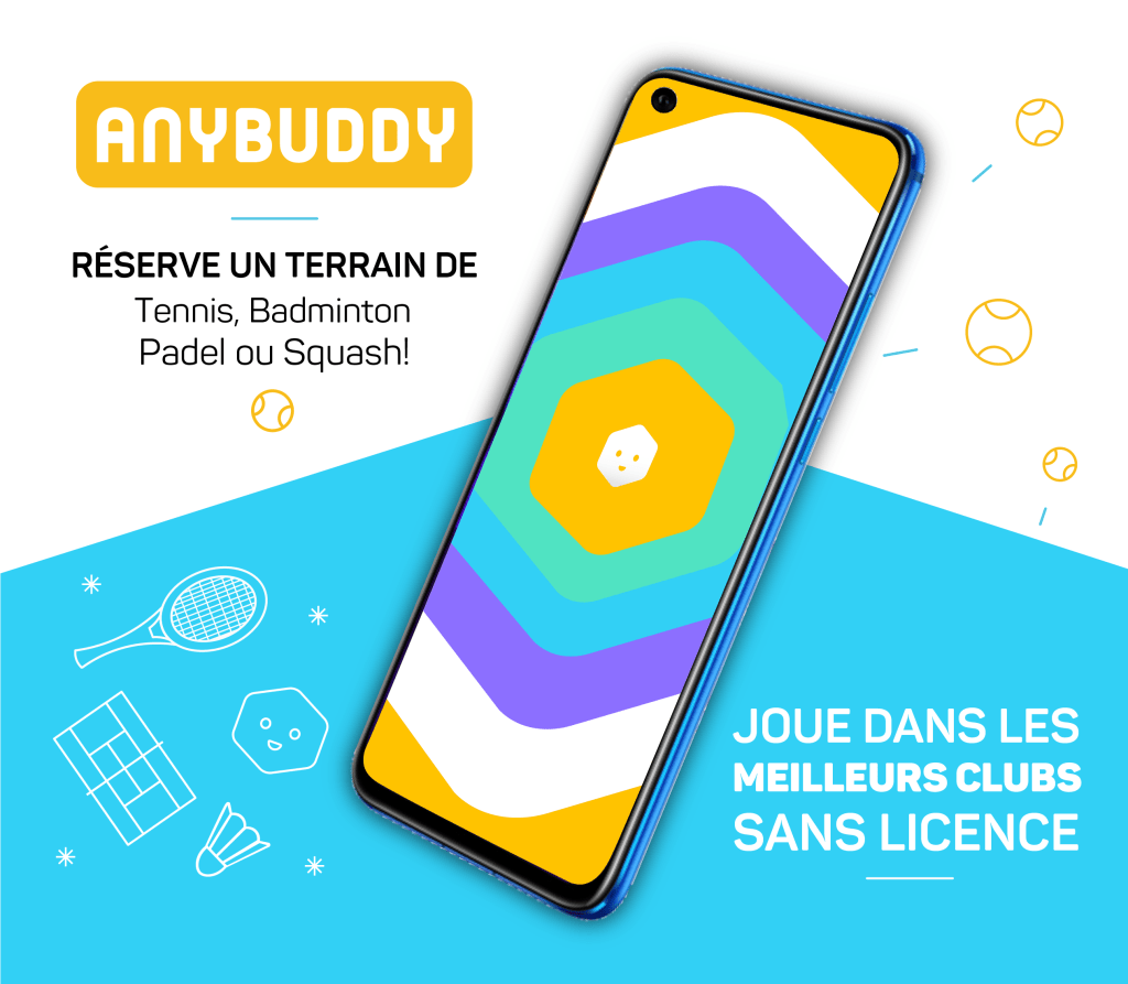 application mobile android anybuddy pour réserver des terrains de sports