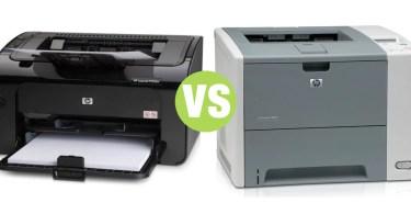 Difference Detween Laser Printer and Laserjet