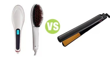 Difference Between Straightening Brush and Flat Iron