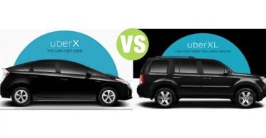 Difference Between UberX and UberXL