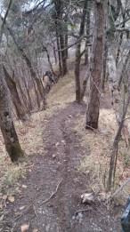 Some sharp hairpins on the ridgeline