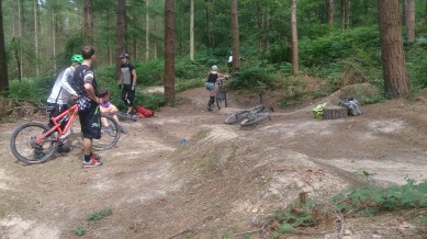 Gettin' it done on the sweet sweet berms of Crowborough