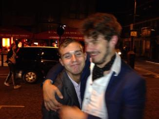 One of the few photos from the night out that later followed to celebrate Gulson's birthday!