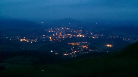 Looking down to Abergavenny