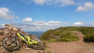 Lunch stop at the cairn on top of Fan-Y-Big