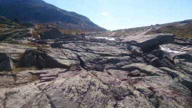 Some huge rock slabs up here, everything was so rocky that even when the ground was grassy it was solid so the whole place was like a MASSIVE playground