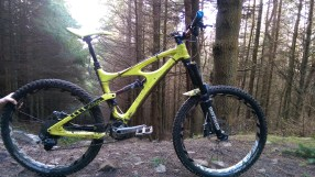 A shot of my bike in the woods with its recent upgrades. New saddle, grips and pedals sorts out all the contact points and gives plenty of grip between me and the bike