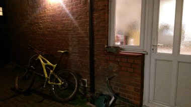 Photo of my bike before getting washed when I got home