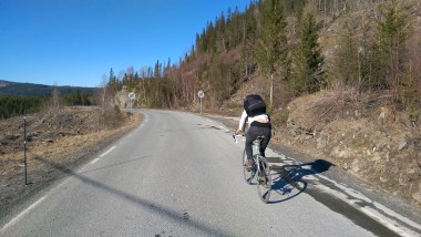 Ana finally getting the hand of riding the road bike and not being so scared of it