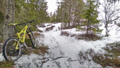 The snow near the bottom was not too bad, giving me a false hope for the ride up