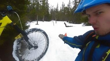 Ooooo I love riding in the snow!