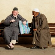Men chatting marrakesh