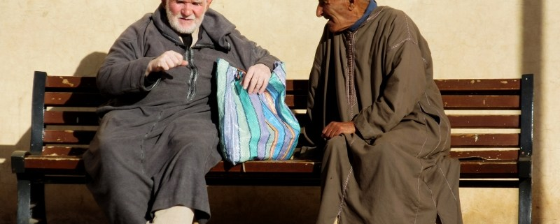 Men chatting marrakesh