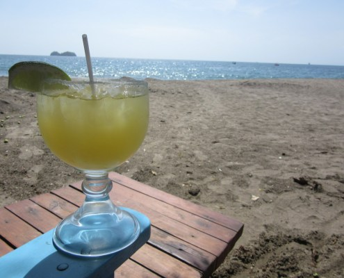 Pacific coast beach in Costa Rica