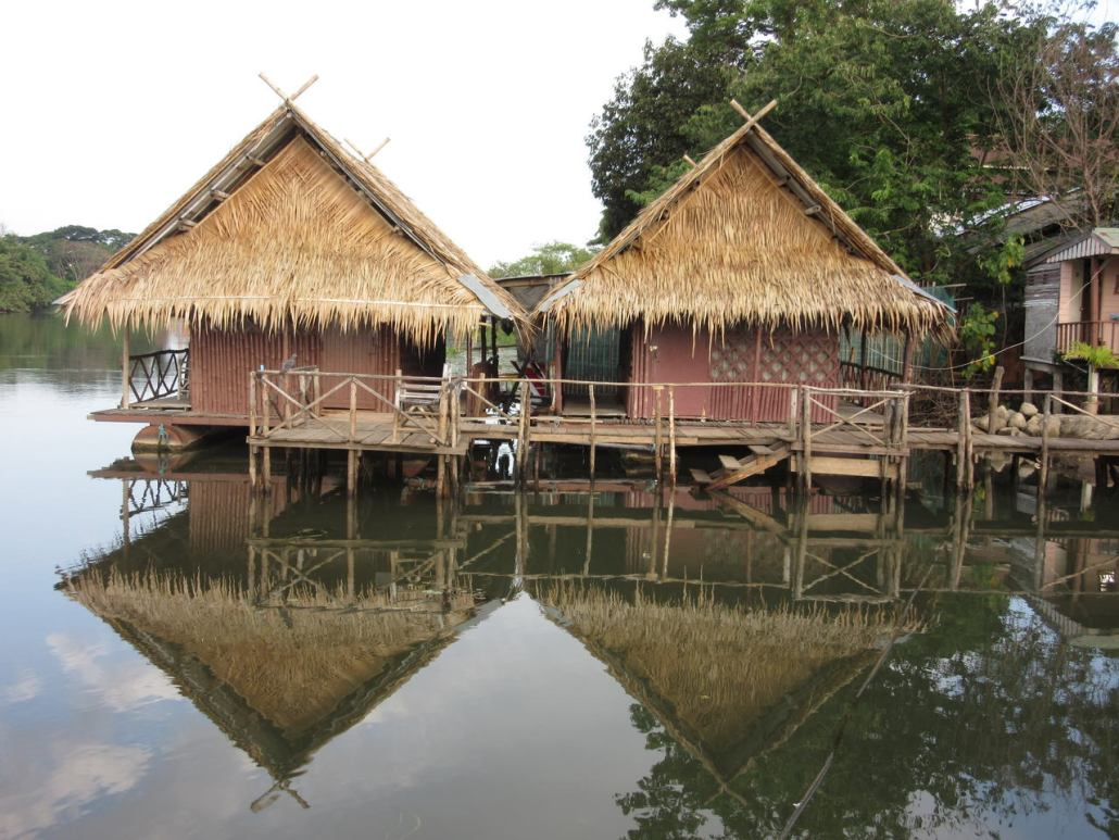 Raft house Kanchanaburi