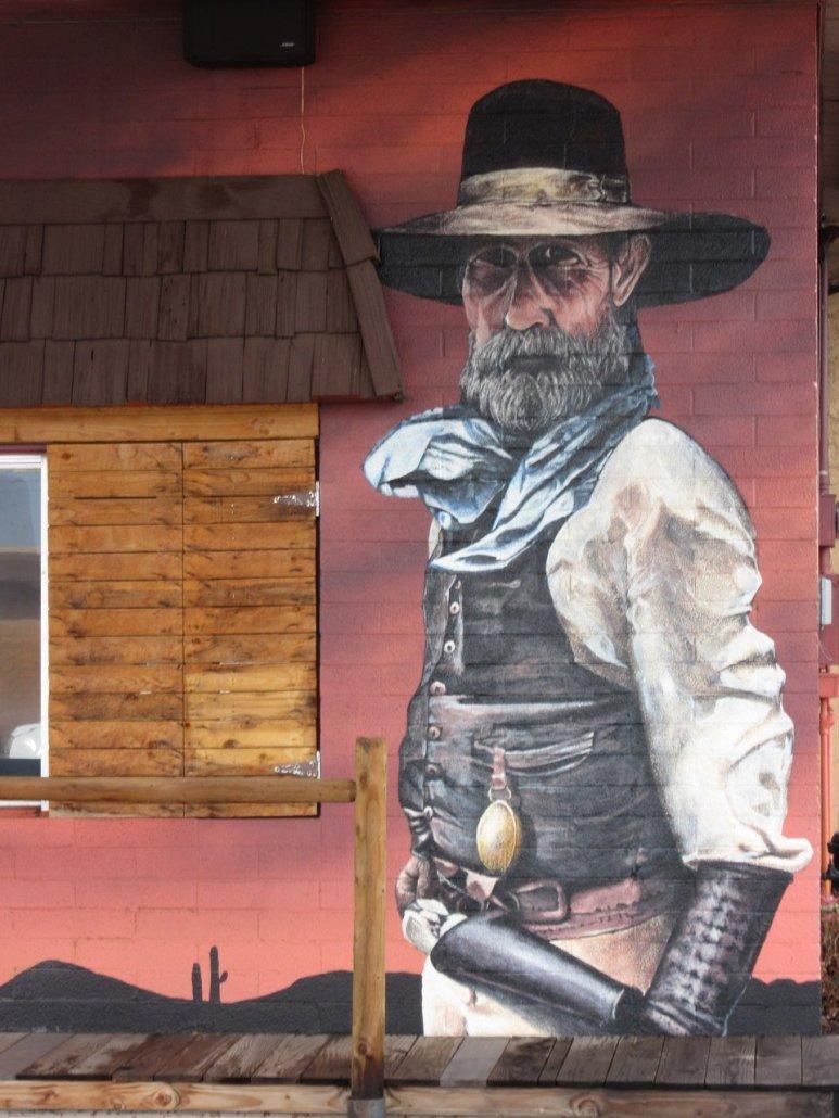 Cowboy graffitti in Williams AZ