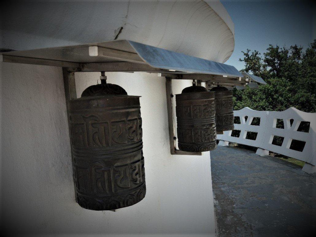 Prayer wheels Zalaszántói Sztupa stupa in Zalaszántó Hungary