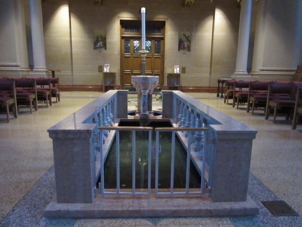 Baptismal font at Milwaukee Cathedral
