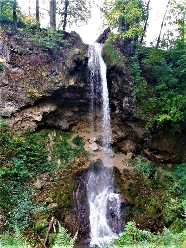 Hungary's tallest waterfall in Lillafüred