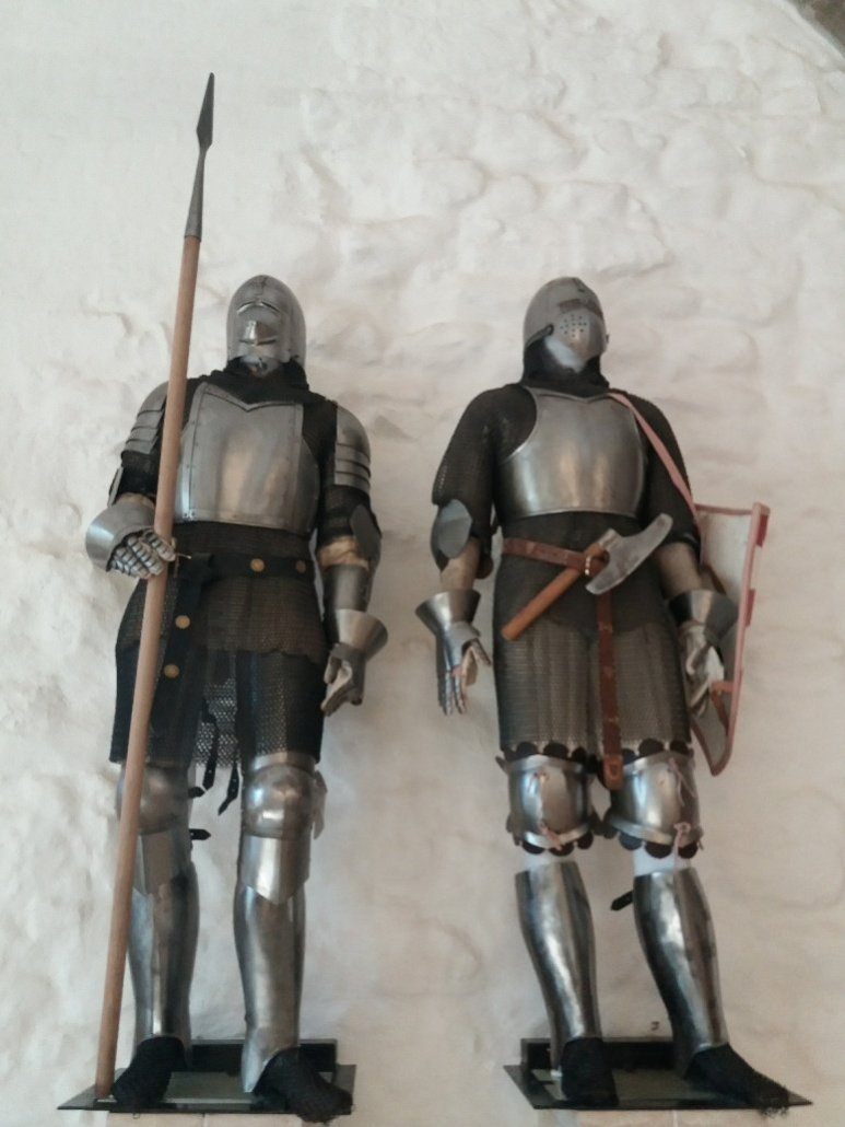 Suits of armour at Diósgyőr castle