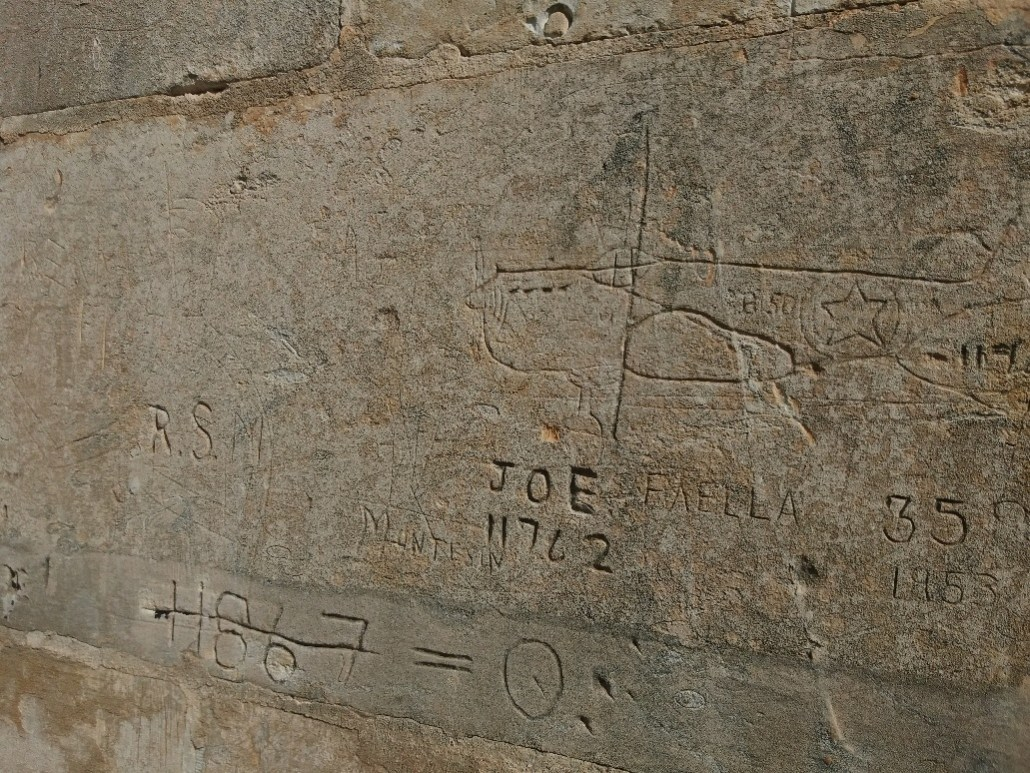 Graffiti on wall at Fort Benghisa Malta