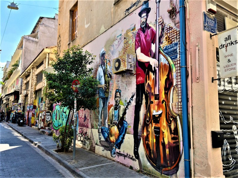 Street arts in Athens - jazz band