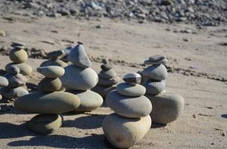 Lovely little cairns.