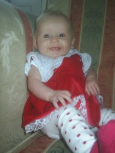 First Christmas at 4 Months Old December 2010