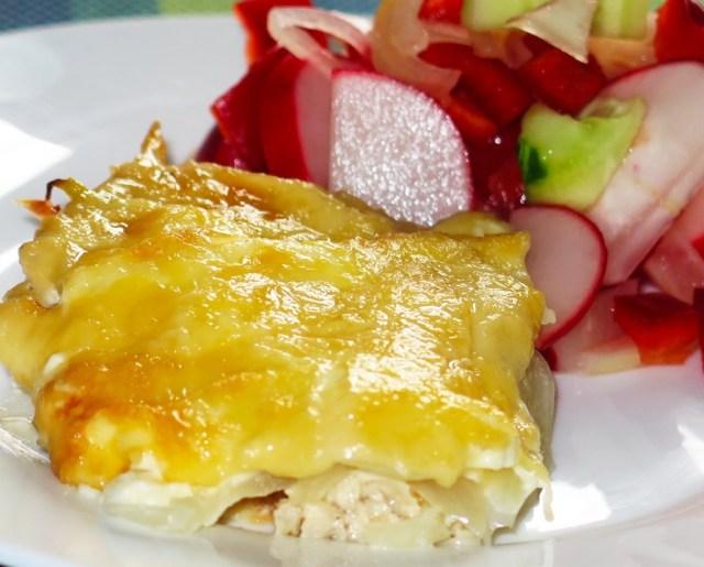 Запеченное куриное филе с луком и сыром (2)