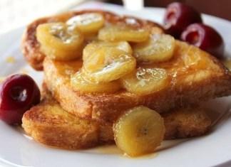Французские тосты с карамельно - банановым соусом