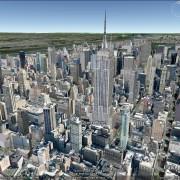 Die Manhattan Skyline in 3D in Google Earth