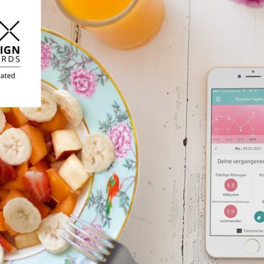 UX Design Awards 2017 Nominiert Rosacea-Tagebuch App anyMOTION Internetagentur Digitalagentur Galderma Titel