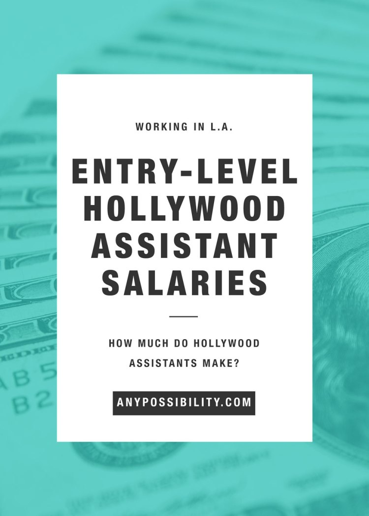 Entry-Level Hollywood Assistant Salaries | How much do Hollywood assistants make? Check out a list of assistant weekly and yearly salaries. Learn what to expect.