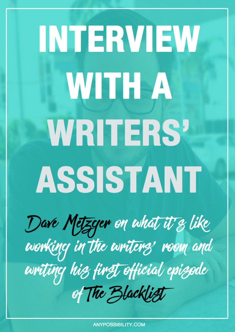 If you've ever wanted to know what it's like to work in the writers' room, check out this interview with Dave Metzger. He talks about everything from working as a writers' assistant to writing an official episode of The Blacklist. Screenwriters interested in television should definitely give their full attention. The interview is crazy informative about screenwriting for television writers.