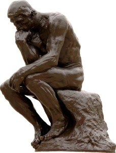 thinker, positive aging, aging well, denial
