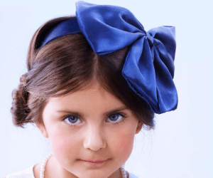 little girl hairstyle with beads