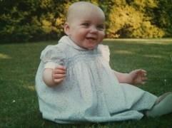 Sitting in the garden (1st birthday)