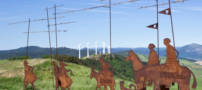 Tilting at Windmills near Pamplona
