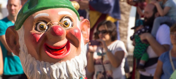 Giants and Big Heads in Badalona