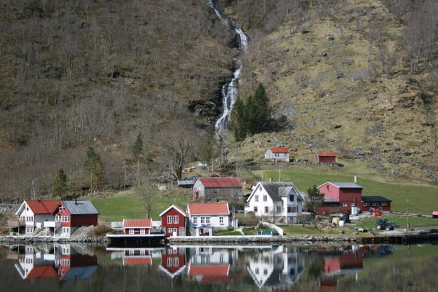 Isolated town in Norway