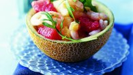 Mini Melon Medley with Prawns in a Ginger Dressing