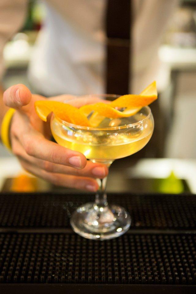 Cocoa gin martini